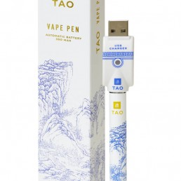 TAO Vape pen contains a 350 MAH automatic battery and is fully rechargeable